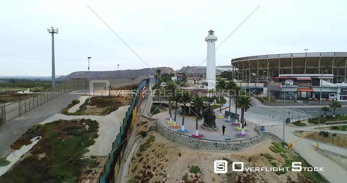 Drone Video of Tijuana Mexico and California Border