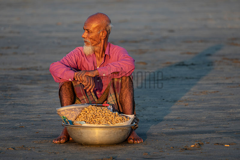 Peanut Seller on the Cox's Bazaar Sea Beach