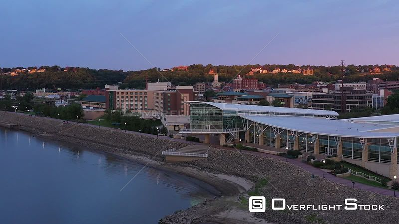 Convention Center, Hotel, and the City Downtown, Dubuque, Iowa, USA
