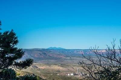 An overlooking view of nature while going to Jerome, Arizona