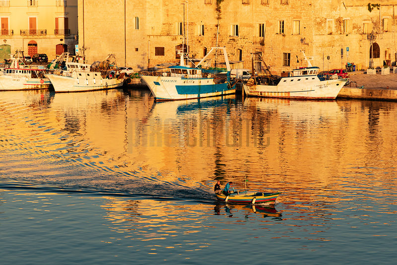 Fishermen Heading out from Trani Harbour