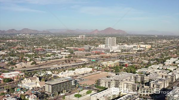 Downtown Phoenix Arizona Drone View