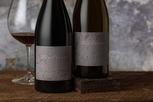 Styled studio photography for Texture Wines in Sonoma. Wine photos by Jason Tinacci