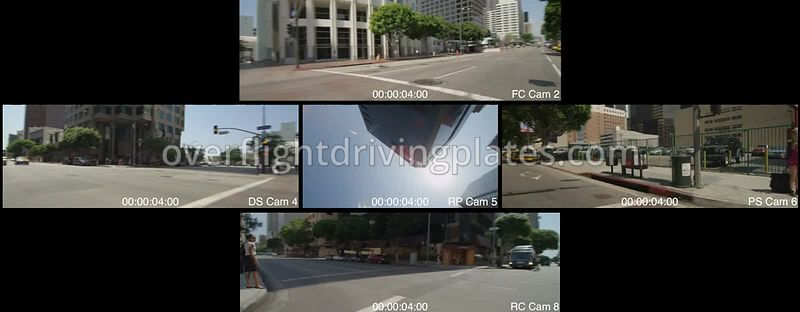 Downtown Figueroa Street  Los Angeles California USA - Driving Plate Preview 2012