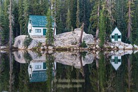 Cabins on Mosquito Lake, California, USA