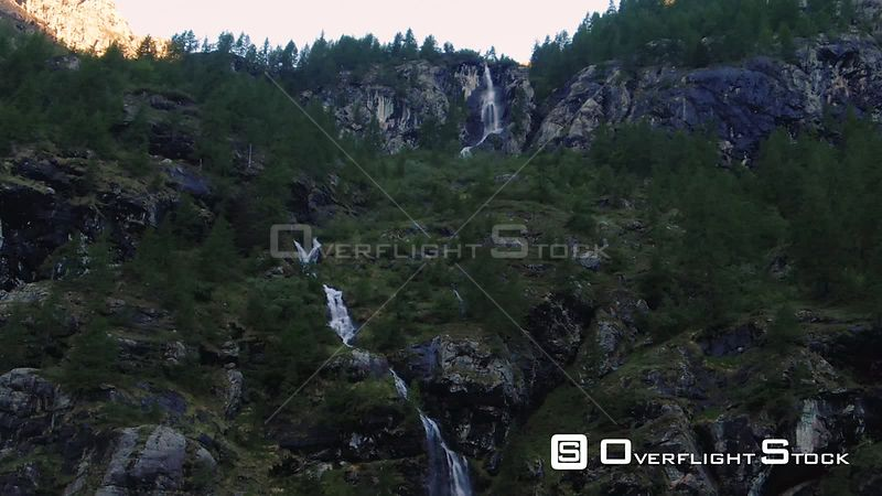 Aerial view of the castle of Graines, in Aosta valley, Italian Alps
