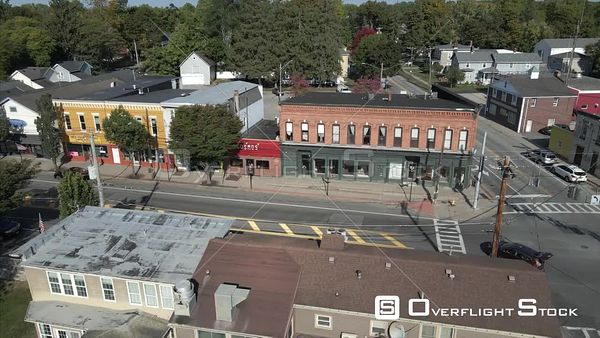 Village of Honeoye Falls New York Drone View