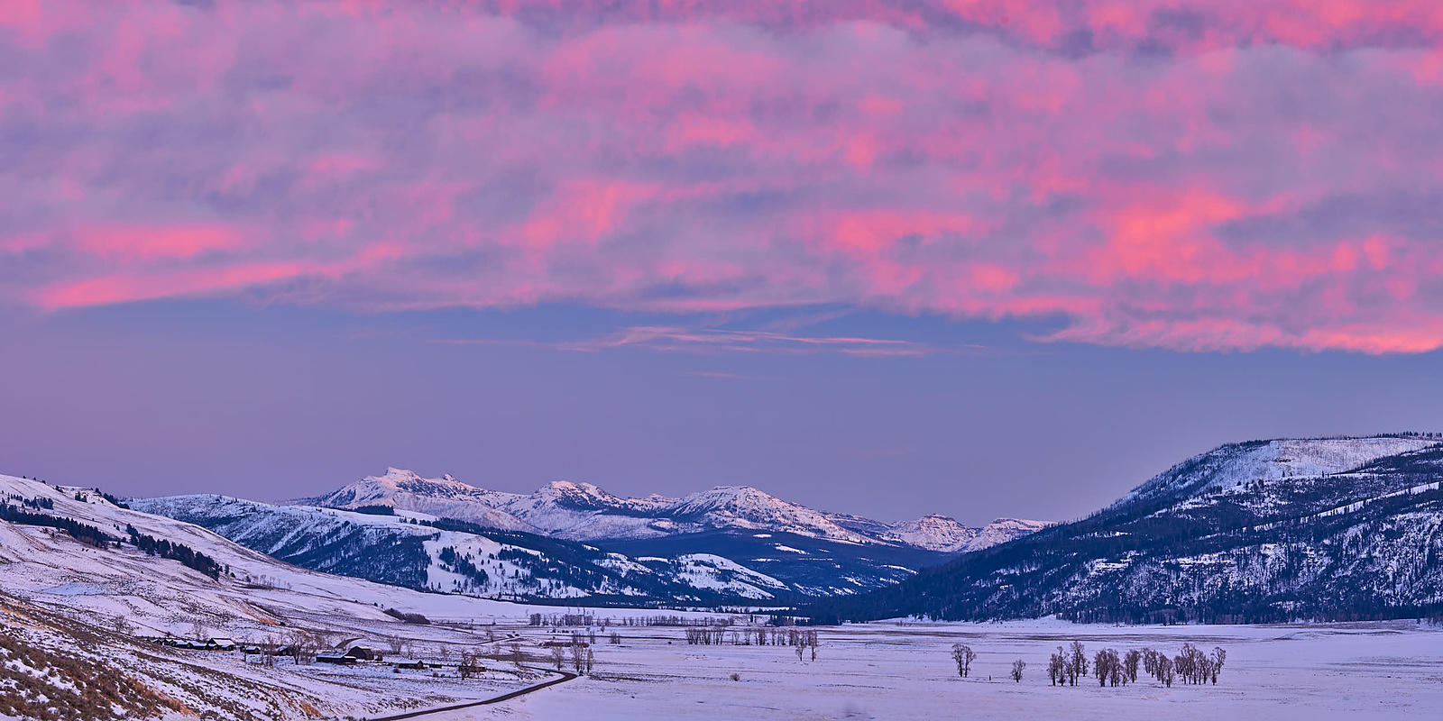 Lamar Valley Winter Panorama