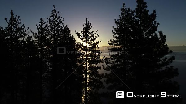 Lake Tahoe California at Dusk