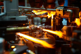 Flames in the manufacture of test glasses