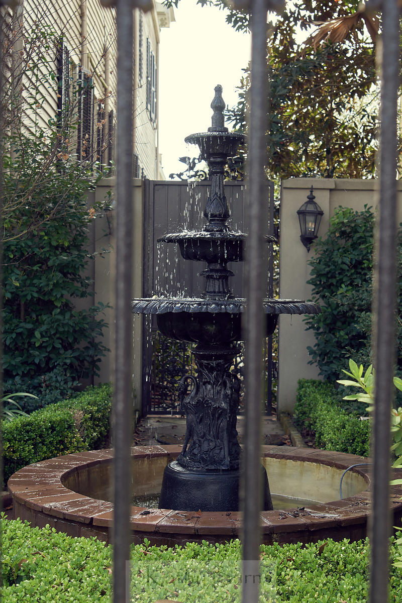 New Orleans iron water fountain