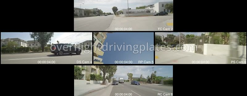 Upscale Neighbourhood  Los Angeles California USA - Driving Plate Preview 2012