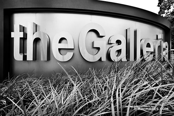 THE GALLERIA UPTOWN DISTRICT HOUSTON TEXAS BLACK AND WHITE