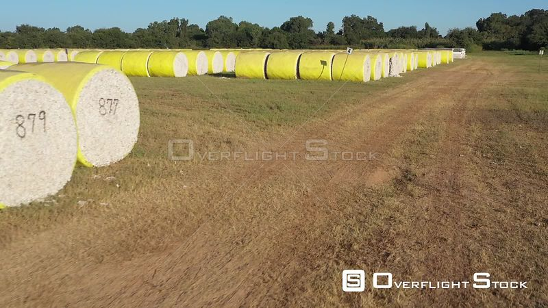 Cotton Bale Inventory at the Gin, Brazos County, Texas, USA