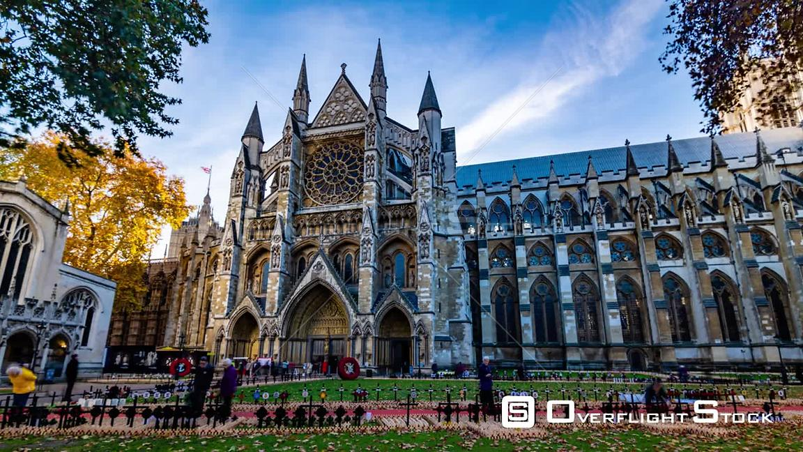 Time lapse view of Westminster Abbey in London