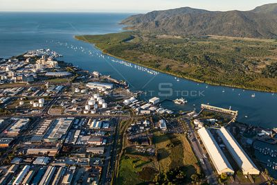 Aerial view of Cairns in Far North Queensland, Australia.