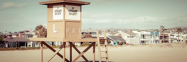 Newport Beach Lifeguard Tower L Panorama Photo