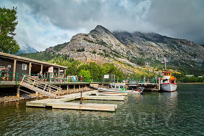 Boat docks at Waterton Park, Canada.