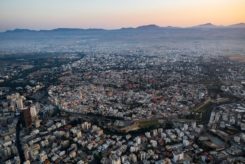Elevated View of the Divided Old City of Nicosia