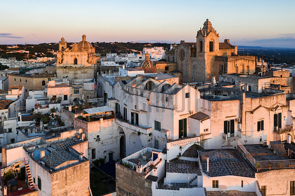 Elevated View of the Concattedrale di Santa Maria Assunta in Cielo in the Historic Center of Ostuni