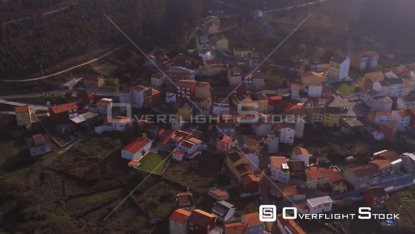 Town of Arou  Spain Drone Video View