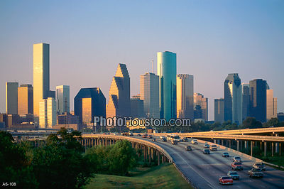 Houston Sunrise and skyscrapers