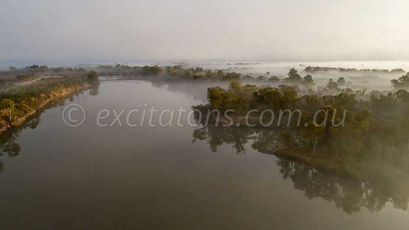 Fog over Murray River Yelta