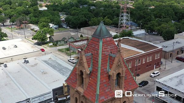 Rooftop of the clocktower, Wise County Courthouse, Decatur, Texas, USA
