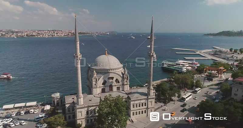 Aerial View of Dolmabahce Mosque Istanbul Turkey