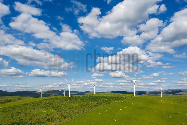 Wind Farm near the Village of Penrhyncoch