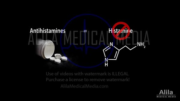 Histamine and Antihistamines NARRATED animation.