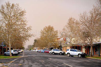 Darling Street, Wentworth, approaching dust storm.