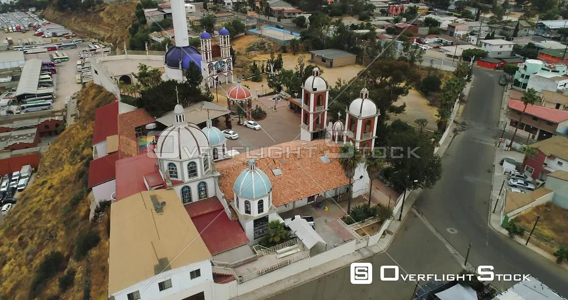 Drone Video Christ of Los Alamos Tijuana Baja Mexico