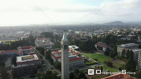 Drone Aerial View University of California Berkeley