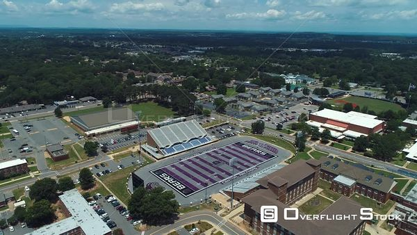 Estes Football Stadium Universtiy of Central Arkansas Drone Aerial View