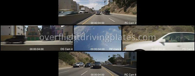 Highway 1 Traffic Jam  Santa Monica California USA - Driving Plate Preview 2012