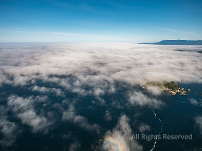 Broken Group Islands in Fog Barkley Sound Vancouver Island BC