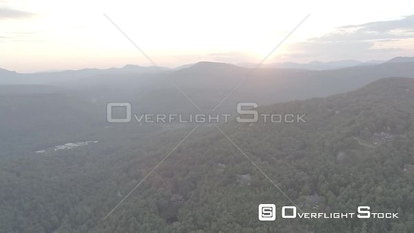 Drone Video of Cottages in Nantahala National Forest North Carolina