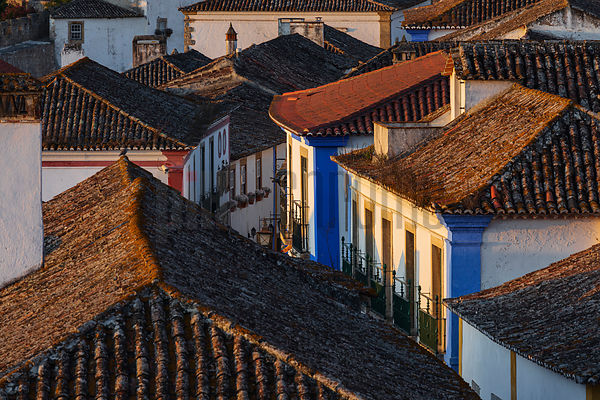 Rooftops of Obidos at Sunrise