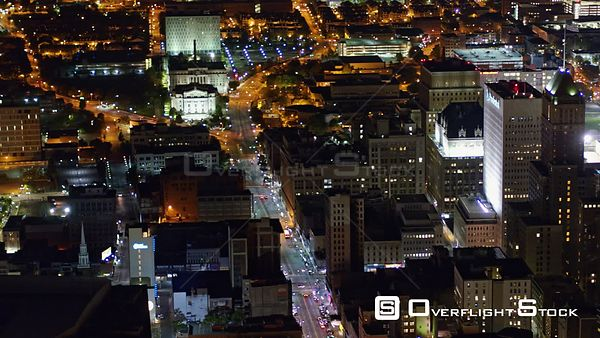 New Jersey Newark Aerial Birdseye Arena Downtown Night
