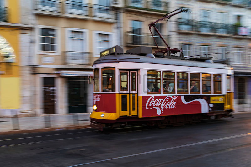 City Tram in Downtown Lisbon