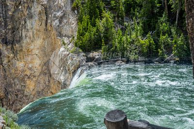 The famous and beautiful Yellowstone River in Wyoming