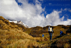 Trekking towards Laguna Chillata, Bolivia
