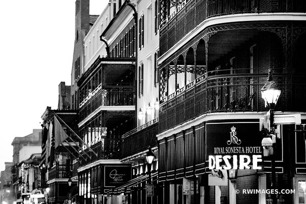 DESIRE ROYAL SONESTA HOTEL FRENCH QUARTER NEW ORLEANS LOUISIANA BLACK AND WHITE