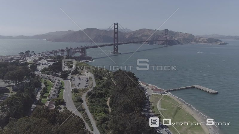 Drone Video Golden Gate Bridge San Francisco California