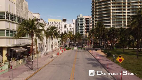 Ocean Drive Miami Beach Shut Down Lock Due to Covid 19 Coronavirus Pandemic