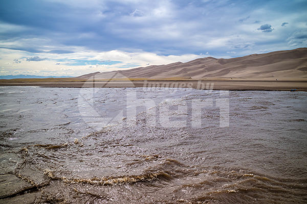 Medano Creek in Great Sand Dunes National Park and Preserve, Colorado