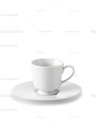Cup with saucer of insulated dinnerware 03 with path.