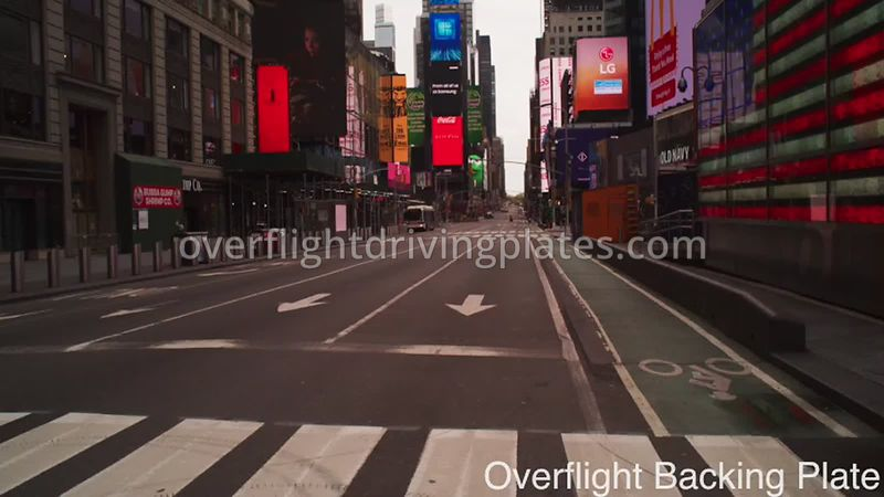 Deserted Streets During Covid-19 Pandemic Time Square Manhattan New York New York USA - BackingPlate Apr 27, 2020