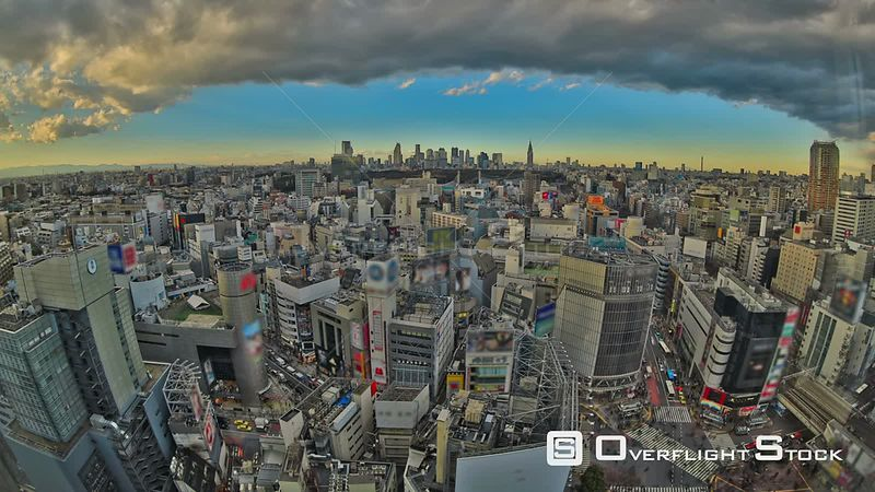 Tokyo  Japan HDR Tokyo cityscape time lapse over Shibuya.